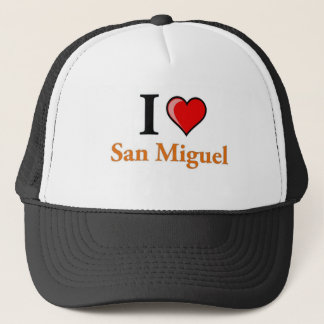 I Love San Miguel Trucker Hat