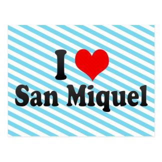 I Love San Miquel, El Salvador Postcard
