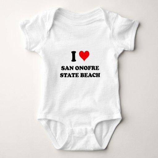 I Love San Onofre State Beach California Shirts