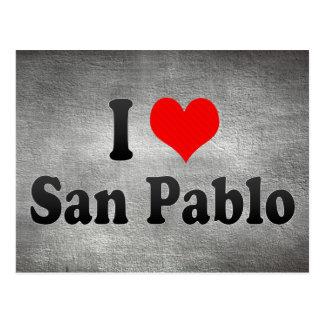 I Love San Pablo, Philippines Postcard