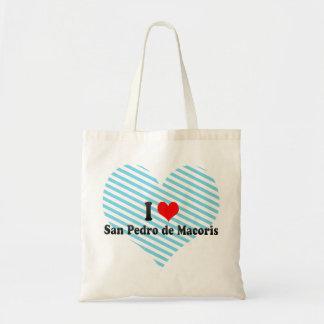 I Love San Pedro de Macoris, Dominican Republic Tote Bags