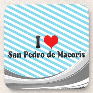 I Love San Pedro de Macoris, Dominican Republic Drink Coaster