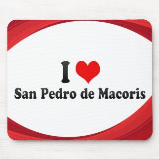 I Love San Pedro de Macoris Dominican Republic Mouse Pads