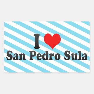 I Love San Pedro Sula, Honduras Rectangular Sticker