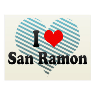 I Love San Ramon, United States Postcard