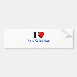I Love San Salvador Bumper Sticker
