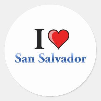 I Love San Salvador Classic Round Sticker