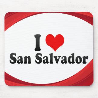 I Love San Salvador, El Salvador Mouse Pad