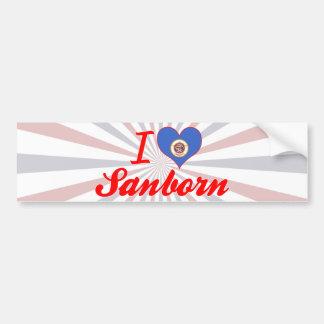 I Love Sanborn, Minnesota Car Bumper Sticker