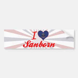 I Love Sanborn, North Dakota Car Bumper Sticker