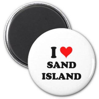 I Love Sand Island Hawaii Fridge Magnet
