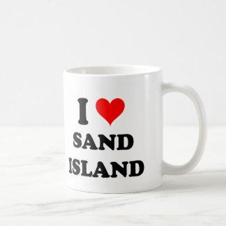 I Love Sand Island Hawaii Coffee Mug