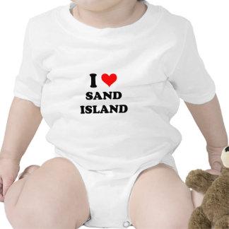 I Love Sand Island Hawaii Bodysuit