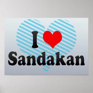 I Love Sandakan, Malaysia Poster