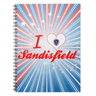 I Love Sandisfield, Massachusetts Spiral Note Books