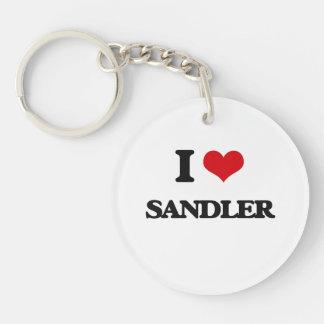 I Love Sandler Single-Sided Round Acrylic Keychain