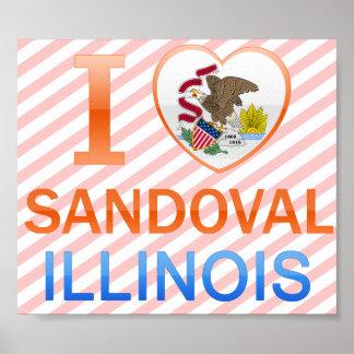 I Love Sandoval, IL Posters