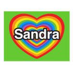 I love Sandra. I love you Sandra. Heart Postcard