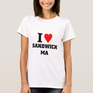 I love Sandwich massachusetts T-Shirt