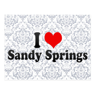 I Love Sandy Springs, United States Postcard
