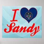I Love Sandy, Utah Posters