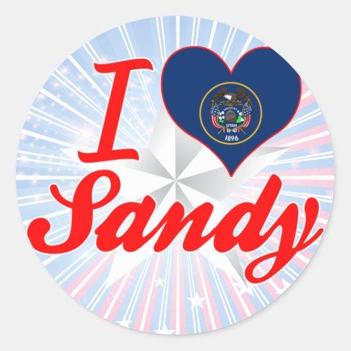 I Love Sandy, Utah Sticker