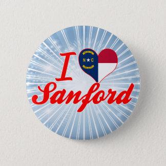 I Love Sanford, North Carolina Button