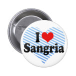 I Love Sangria Pinback Button