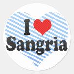 I Love Sangria Round Sticker