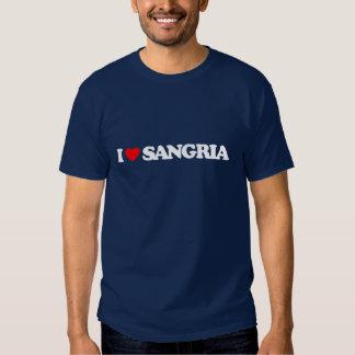 I LOVE SANGRIA T SHIRT
