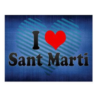 I Love Sant Marti, Spain Postcard