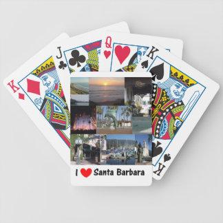 I love Santa Barbara Bicycle Playing Cards