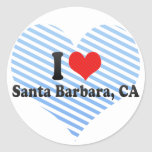 I Love Santa Barbara, CA Round Sticker