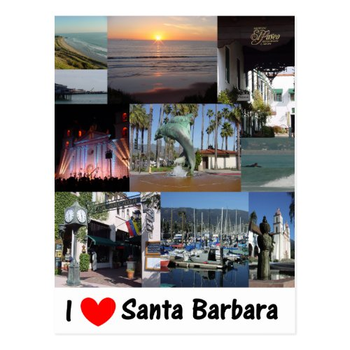 I love Santa Barbara Postcard