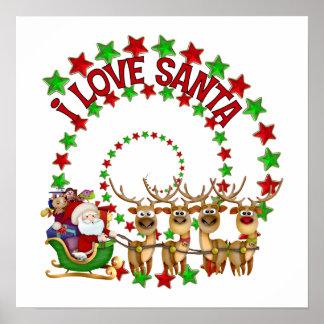 I Love Santa Christmas Gift Posters