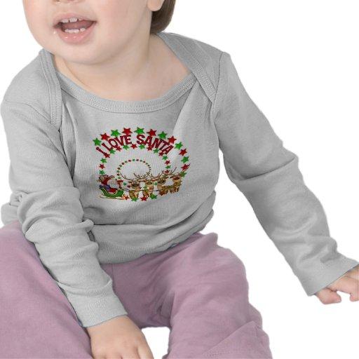 I Love Santa Christmas Gift T Shirts