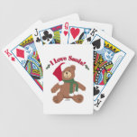 I Love Santa! Christmas Teddy Bear Poker Deck