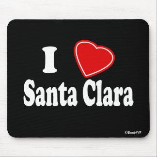 I Love Santa Clara Mouse Pad