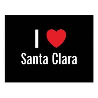 I love Santa Clara Postcard