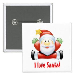 I love Santa Claus Pin