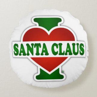 I Love Santa Claus Round Pillow