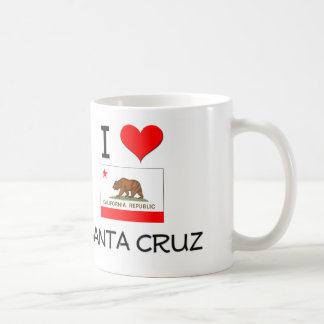 I Love SANTA CRUZ California Coffee Mugs