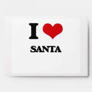 I Love Santa Envelope