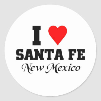 I love Santa Fe, New Mexico Classic Round Sticker