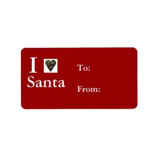 I Love Santa Gift Tags Address Label
