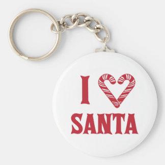 I Love Santa Keychain