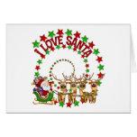 I Love Santa Kids Christmas Gift Cards