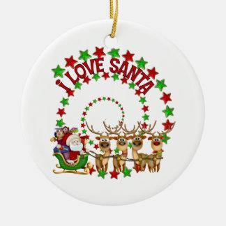 I Love Santa Kids Christmas Gift Ornament