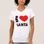 I love Santa  Ladies AA Cap Sleeve Raglan (Fitted) Tee Shirt
