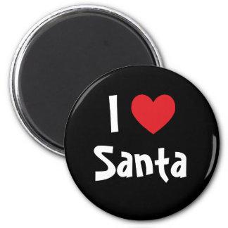 I Love Santa 2 Inch Round Magnet